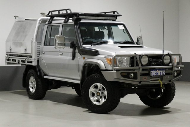 Used Toyota Landcruiser VDJ79R MY12 Update GXL (4x4), 2014 Toyota Landcruiser VDJ79R MY12 Update GXL (4x4) Silver 5 Speed Manual Double Cab Chassis