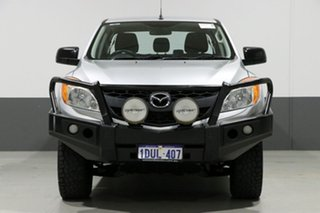 2011 Mazda BT-50 XT (4x4) Silver 6 Speed Manual Dual Cab Chassis.