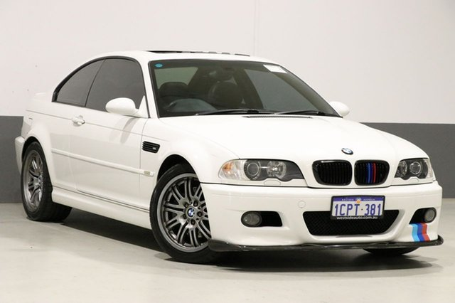 Used BMW M3 E46 , 2003 BMW M3 E46 White 6 Speed Sequential Manual Coupe