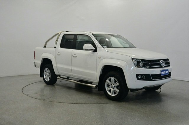 Used Volkswagen Amarok 2H MY15 TDI420 4Motion Perm Highline, 2015 Volkswagen Amarok 2H MY15 TDI420 4Motion Perm Highline White 8 Speed Automatic Utility