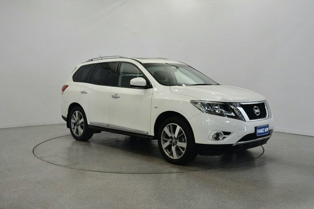 Used Nissan Pathfinder R52 MY15 Ti X-tronic 4WD, 2015 Nissan Pathfinder R52 MY15 Ti X-tronic 4WD White 1 Speed Constant Variable Wagon