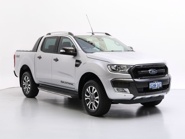 Used Ford Ranger PX MkII MY17 Update Wildtrak 3.2 (4x4), 2017 Ford Ranger PX Mkii MY17 Update Wildtrak 3.2 (4x4) Silver 6 Speed Automatic Dual Cab Pick-up