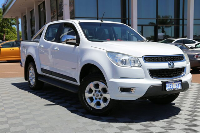 Used Holden Colorado RG MY13 LTZ Crew Cab 4x2, 2012 Holden Colorado RG MY13 LTZ Crew Cab 4x2 White 6 Speed Sports Automatic Utility