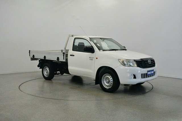 Used Toyota Hilux TGN16R MY12 Workmate 4x2, 2013 Toyota Hilux TGN16R MY12 Workmate 4x2 White 5 Speed Manual Cab Chassis