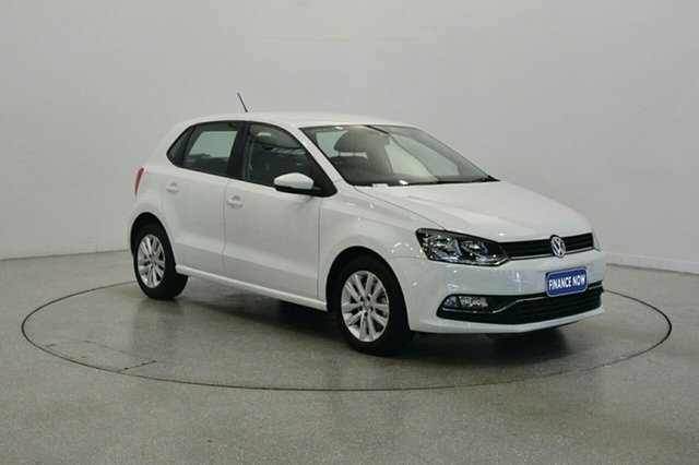 Used Volkswagen Polo 6R MY15 81TSI DSG Comfortline, 2014 Volkswagen Polo 6R MY15 81TSI DSG Comfortline White 7 Speed Sports Automatic Dual Clutch