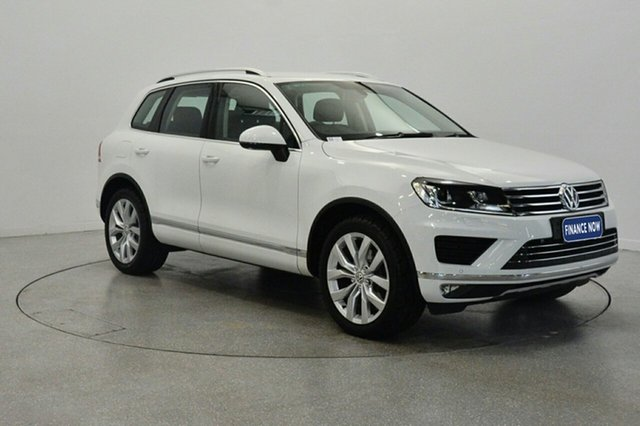 Used Volkswagen Touareg 7P MY16 V6 TDI Tiptronic 4MOTION, 2015 Volkswagen Touareg 7P MY16 V6 TDI Tiptronic 4MOTION White 8 Speed Sports Automatic Wagon
