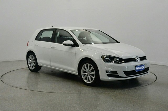 Used Volkswagen Golf VII MY17 110TSI DSG Highline, 2017 Volkswagen Golf VII MY17 110TSI DSG Highline White 7 Speed Sports Automatic Dual Clutch