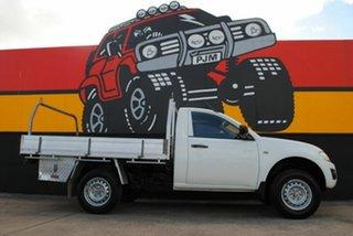 2010 Mitsubishi Triton MN MY11 GLX 4x2 Summit White 5 Speed Manual Cab Chassis.
