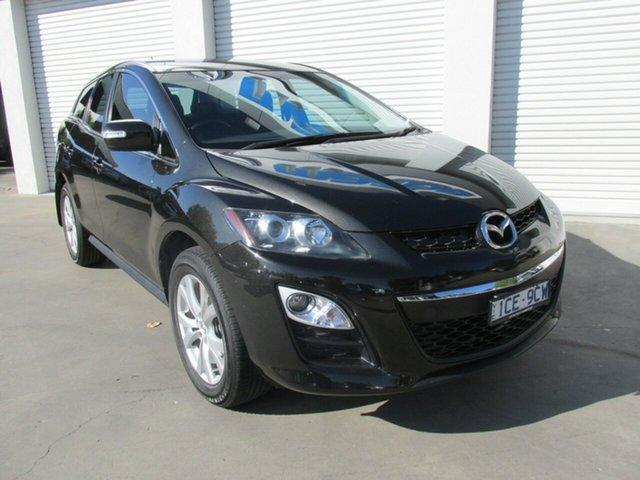 Used Mazda CX-7 ER1032 Classic Activematic Sports, 2010 Mazda CX-7 ER1032 Classic Activematic Sports Black 6 Speed Sports Automatic Wagon
