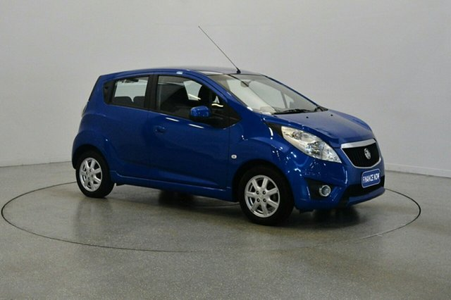 Used Holden Barina Spark MJ MY12 CD, 2012 Holden Barina Spark MJ MY12 CD Blue 5 Speed Manual Hatchback