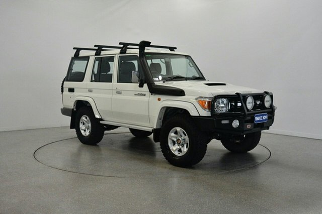 Used Toyota Landcruiser VDJ76R GXL, 2016 Toyota Landcruiser VDJ76R GXL White 5 Speed Manual Wagon
