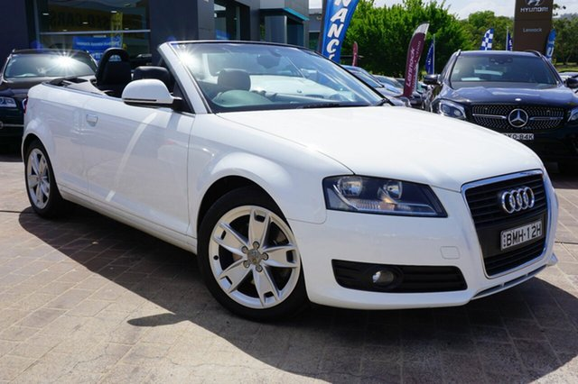 Used Audi A3 8P MY10 TFSI S tronic Ambition, 2009 Audi A3 8P MY10 TFSI S tronic Ambition White 6 Speed Sports Automatic Dual Clutch Convertible