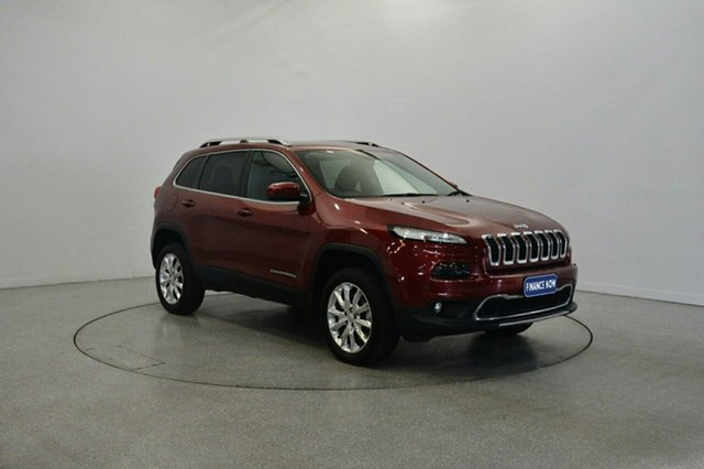Used Jeep Cherokee KL MY15 Limited, 2015 Jeep Cherokee KL MY15 Limited Deep Cherry Red 9 Speed Sports Automatic Wagon