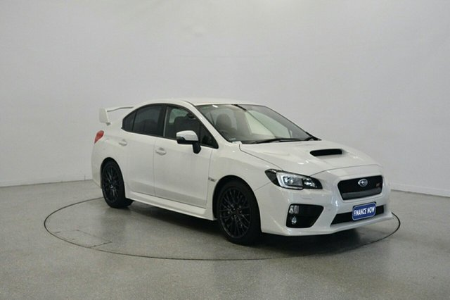 Used Subaru WRX V1 MY15 STI AWD, 2015 Subaru WRX V1 MY15 STI AWD White 6 Speed Manual Sedan