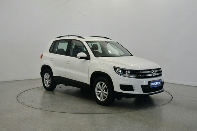 Used Volkswagen Tiguan 5N MY13 103TDI DSG 4MOTION, 2012 Volkswagen Tiguan 5N MY13 103TDI DSG 4MOTION Candy White 7 Speed Sports Automatic Dual Clutch