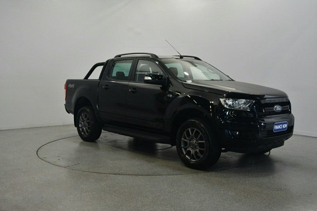 Used Ford Ranger PX MkII FX4 Double Cab, 2017 Ford Ranger PX MkII FX4 Double Cab Shadow Black 6 Speed Manual Utility
