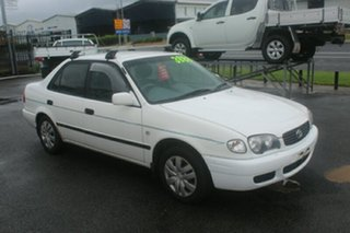2000 Toyota Corolla AE112R Ascent White 5 Speed Manual Sedan.