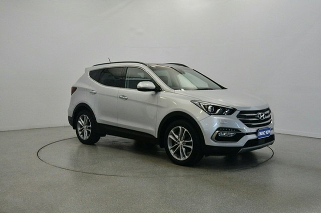 Used Hyundai Santa Fe DM3 MY17 Highlander, 2017 Hyundai Santa Fe DM3 MY17 Highlander Platinum Silver Metallic 6 Speed Sports Automatic Wagon