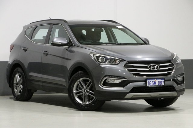Used Hyundai Santa Fe DM Series II (DM3) Active CRDi (4x4), 2016 Hyundai Santa Fe DM Series II (DM3) Active CRDi (4x4) Grey 6 Speed Automatic Wagon