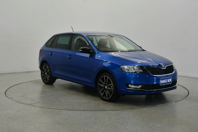 Used Skoda Rapid NH MY17 Spaceback DSG, 2017 Skoda Rapid NH MY17 Spaceback DSG Race Blue 7 Speed Sports Automatic Dual Clutch Hatchback
