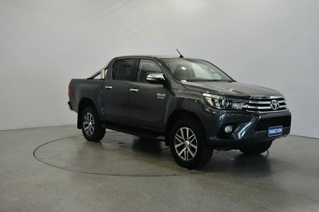 Used Toyota Hilux GUN126R SR5 Double Cab, 2015 Toyota Hilux GUN126R SR5 Double Cab Graphite 6 Speed Sports Automatic Utility