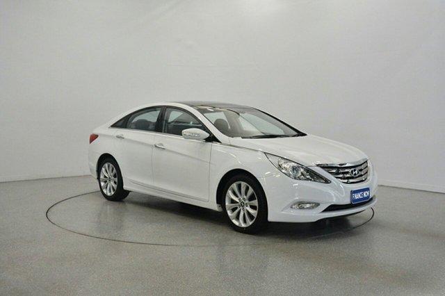 Used Hyundai i45 YF MY11 Premium, 2012 Hyundai i45 YF MY11 Premium Noble White 6 Speed Sports Automatic Sedan