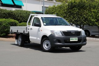 2013 Toyota Hilux TGN16R MY12 Workmate 4x2 Glacier 4 Speed Automatic Cab Chassis.