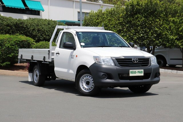 Used Toyota Hilux TGN16R MY12 Workmate 4x2, 2013 Toyota Hilux TGN16R MY12 Workmate 4x2 Glacier 4 Speed Automatic Cab Chassis