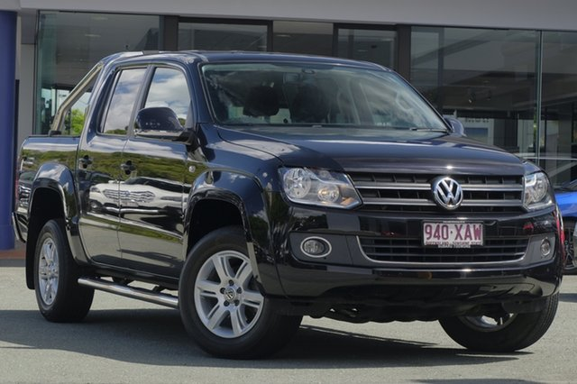 Used Volkswagen Amarok 2H MY15 TDI420 4Motion Perm Highline, 2014 Volkswagen Amarok 2H MY15 TDI420 4Motion Perm Highline Black 8 Speed Automatic Utility