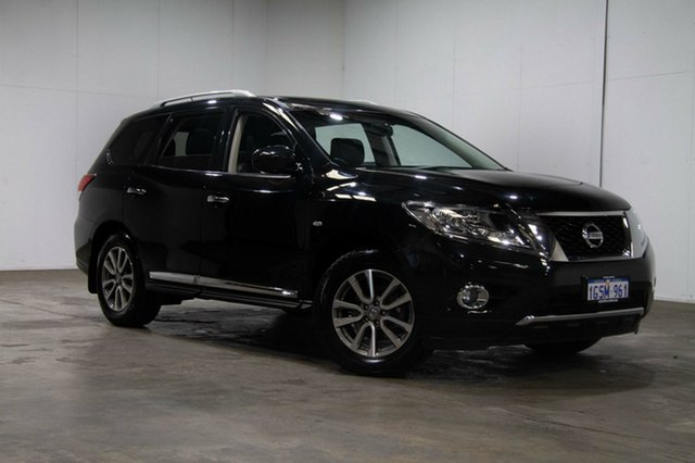 Used Nissan Pathfinder R52 MY15 ST-L X-tronic 4WD, 2015 Nissan Pathfinder R52 MY15 ST-L X-tronic 4WD Diamond Black 1 Speed Constant Variable Wagon