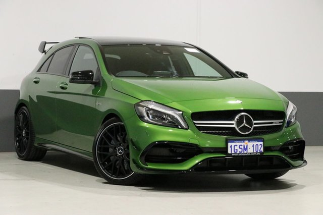 Used Mercedes-Benz A45 176 MY15 AMG, 2016 Mercedes-Benz A45 176 MY15 AMG Elbaite Green 7 Speed Auto Dual Clutch Hatchback