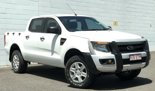 Used Ford Ranger PX XL Double Cab, 2012 Ford Ranger PX XL Double Cab White 6 Speed Sports Automatic Cab Chassis