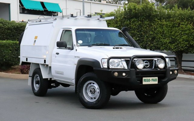Used Nissan Patrol MY11 Upgrade DX (4x4), 2013 Nissan Patrol MY11 Upgrade DX (4x4) White 5 Speed Manual Leaf Cab Chassis