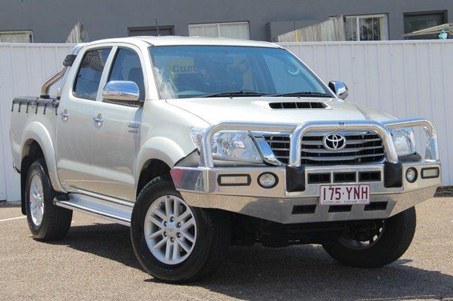 Used Toyota Hilux KUN26R MY14 SR5 Double Cab, 2014 Toyota Hilux KUN26R MY14 SR5 Double Cab Silver 5 Speed Automatic Utility
