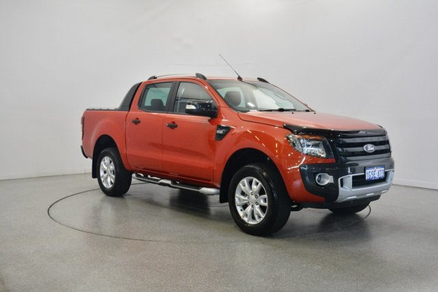 Used Ford Ranger PX Wildtrak Double Cab, 2013 Ford Ranger PX Wildtrak Double Cab Orange 6 Speed Sports Automatic Utility