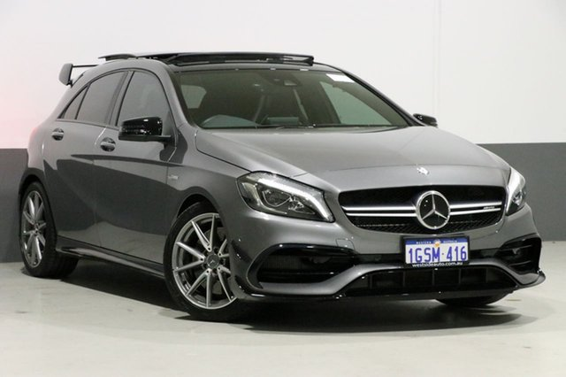 Used Mercedes-Benz A45 176 MY15 AMG, 2016 Mercedes-Benz A45 176 MY15 AMG Grey 7 Speed Auto Dual Clutch Hatchback