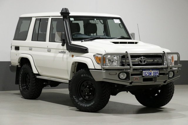 Used Toyota Landcruiser LC70 VDJ76R MY17 GXL (4x4), 2017 Toyota Landcruiser LC70 VDJ76R MY17 GXL (4x4) White 5 Speed Manual Wagon