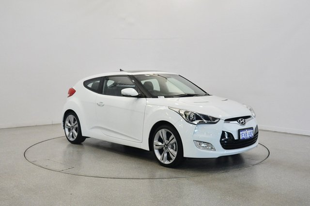 Used Hyundai Veloster FS2 + Coupe, 2013 Hyundai Veloster FS2 + Coupe Crystal White 6 Speed Manual Hatchback