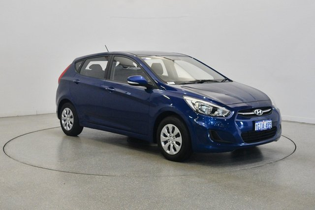 Used Hyundai Accent RB4 MY17 Active, 2017 Hyundai Accent RB4 MY17 Active Dazzling Blue 6 Speed Constant Variable Hatchback