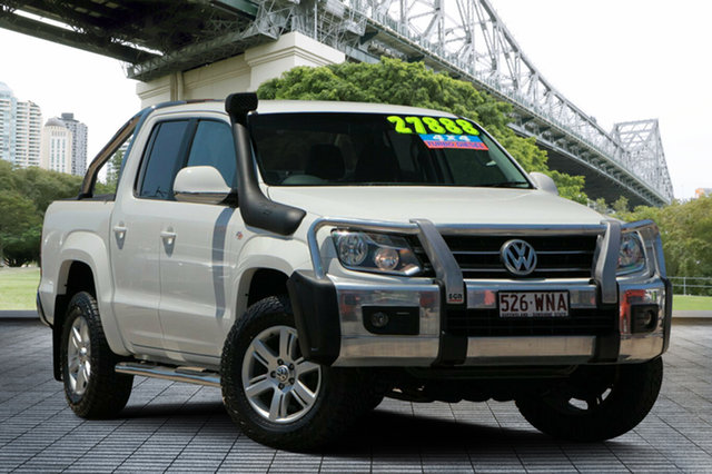 Used Volkswagen Amarok 2H MY12.5 TDI400 4Mot Highline, 2012 Volkswagen Amarok 2H MY12.5 TDI400 4Mot Highline White 6 Speed Manual Utility