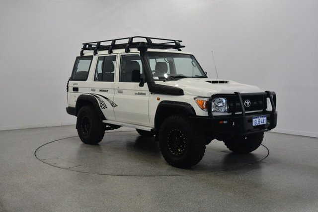 Used Toyota Landcruiser VDJ76R Workmate, 2017 Toyota Landcruiser VDJ76R Workmate White 5 Speed Manual Wagon