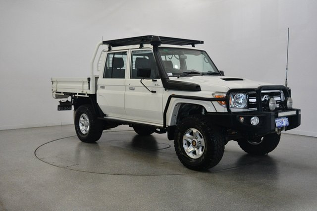 Used Toyota Landcruiser VDJ79R MY13 GXL Double Cab, 2012 Toyota Landcruiser VDJ79R MY13 GXL Double Cab White 5 Speed Manual Cab Chassis