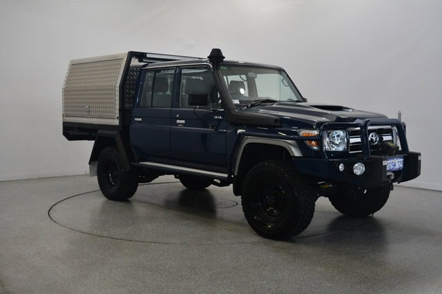 Used Toyota Landcruiser VDJ79R GXL Double Cab, 2018 Toyota Landcruiser VDJ79R GXL Double Cab Blue 5 Speed Manual Cab Chassis