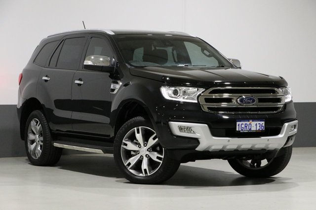 Used Ford Everest UA MY17.5 Titanium (4WD), 2017 Ford Everest UA MY17.5 Titanium (4WD) Black 6 Speed Automatic Wagon