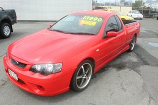 2007 Ford Falcon BF Mk II XR8 Ute Super Cab Red 6 Speed Manual Utility.