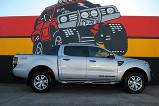 2014 Ford Ranger PX Wildtrak Double Cab Highlight Silver 6 Speed Sports Automatic Utility.