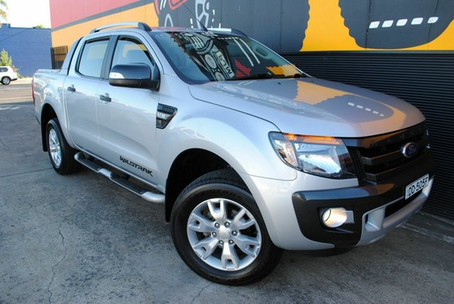 Used Ford Ranger PX Wildtrak Double Cab, 2014 Ford Ranger PX Wildtrak Double Cab Highlight Silver 6 Speed Sports Automatic Utility