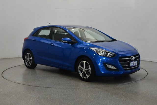 Used Hyundai i30 GD4 Series II MY17 Active X, 2016 Hyundai i30 GD4 Series II MY17 Active X Blue 6 Speed Sports Automatic Hatchback