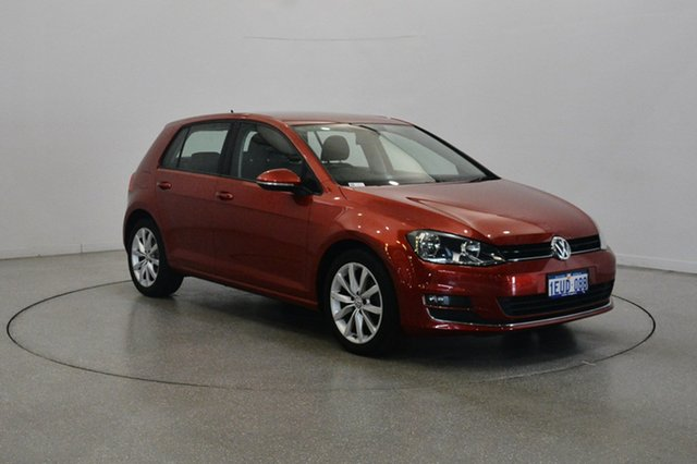 Used Volkswagen Golf VII 103TSI DSG Highline, 2013 Volkswagen Golf VII 103TSI DSG Highline Red 7 Speed Sports Automatic Dual Clutch Hatchback