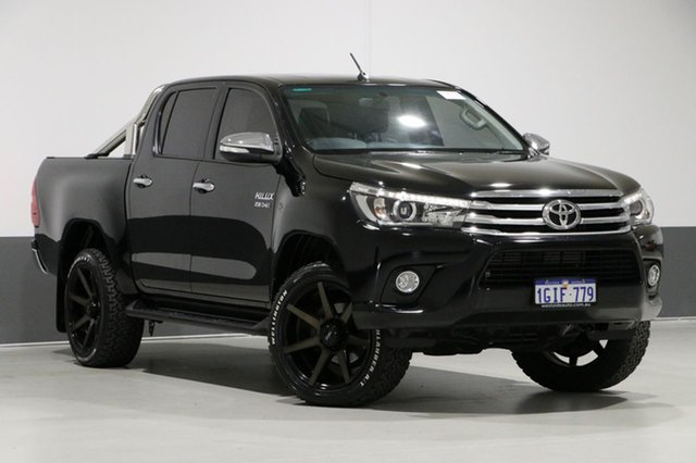 Used Toyota Hilux GUN126R SR5 (4x4), 2016 Toyota Hilux GUN126R SR5 (4x4) Black 6 Speed Manual Dual Cab Utility